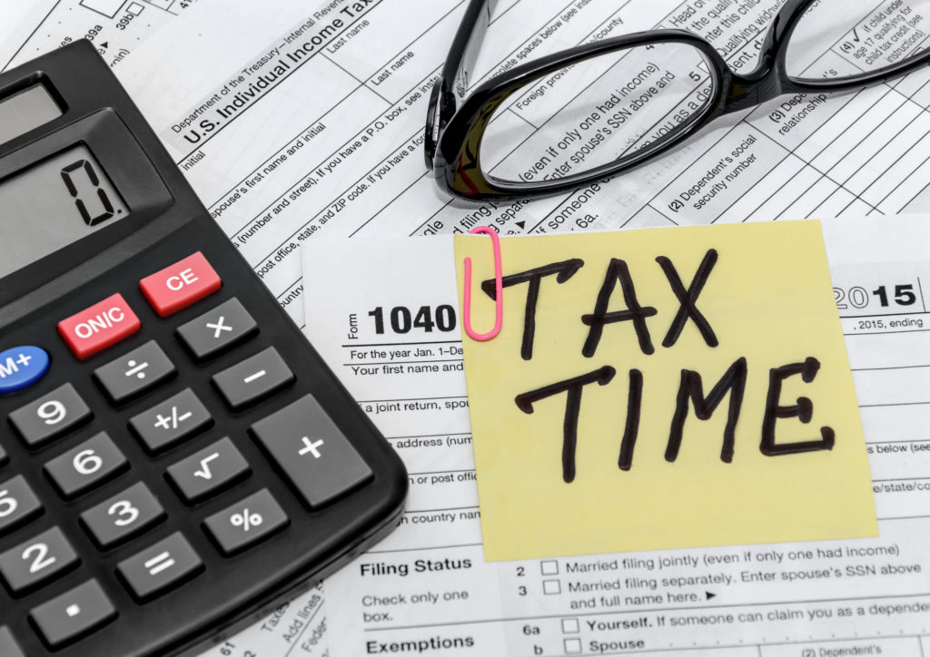 note that says tax time