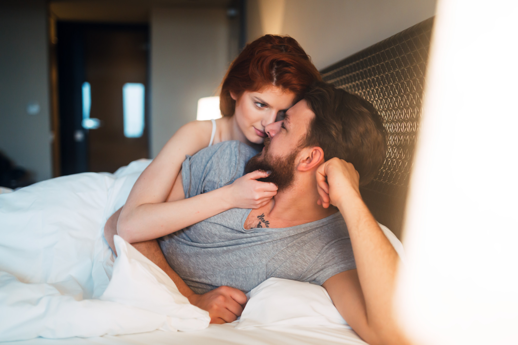 couple laying in bed