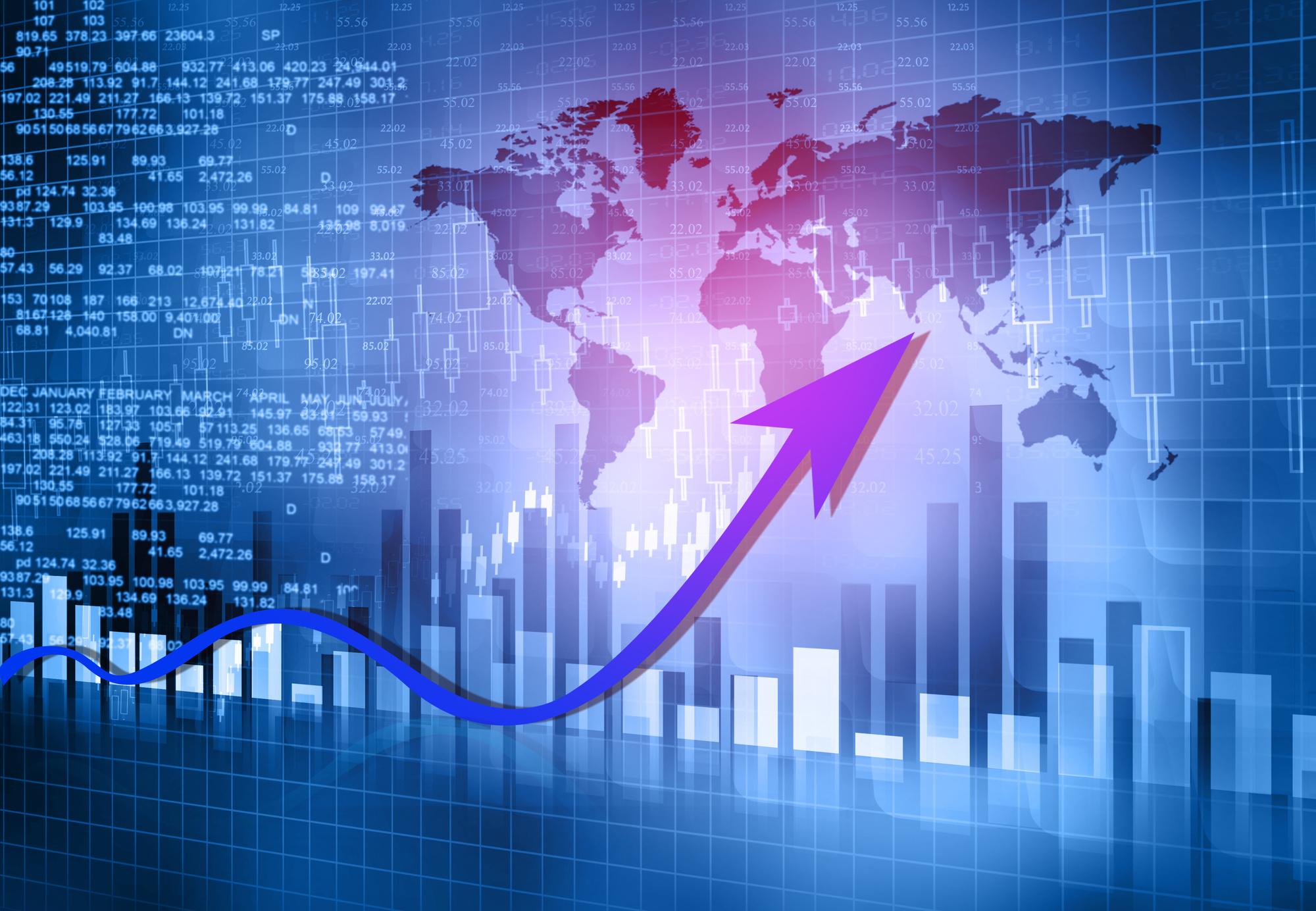 stock market trading charts