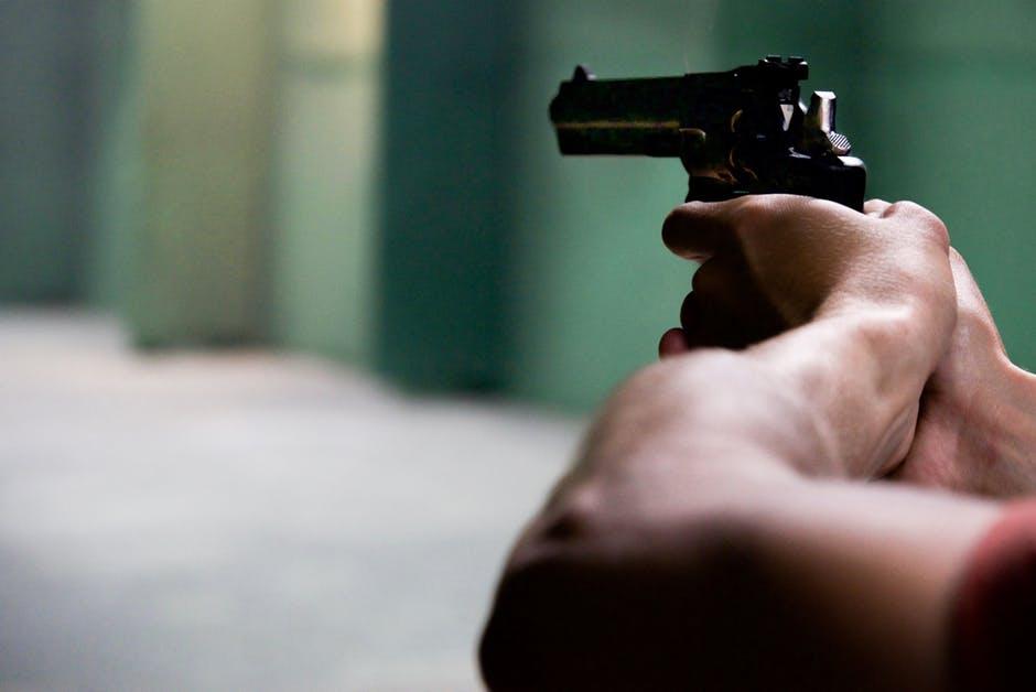 man at shooting range