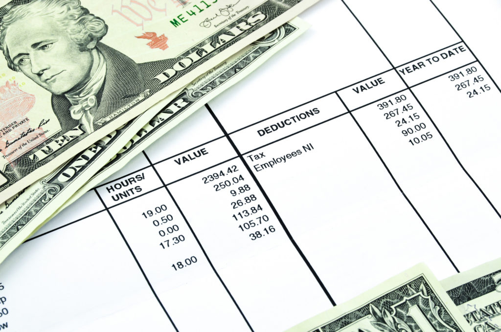 cash on top of invoices