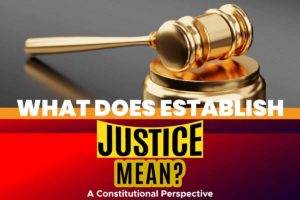 What Does Establish Justice Mean